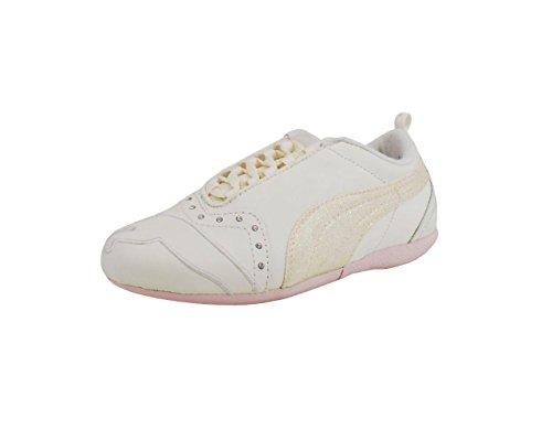PUMA Little Kid Sela Diamond II Sneaker,Whisper White/Pink,12 M US Little Kid