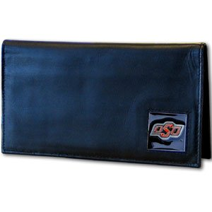 Siskiyou NCAA Oklahoma State Cowboys Leather Checkbook -