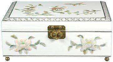 Oriental Furniture Clementina Jewelry Box - White