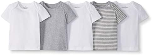 Moon and Back by Hanna Andersson 5 Pack Crew Neck Tee Infant-and-Toddler-t-Shirt-Sets Mixte b/éb/é Lot de 5