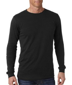 Bella 3501 Mens Jersey Long Sleeve Tee - Black, (Bike Long Sleeve Tee)
