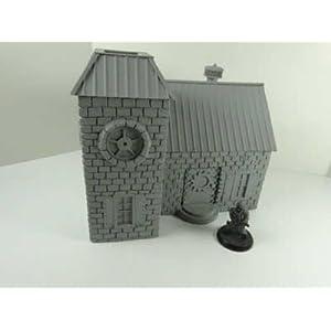 NDS1018 Steampunk Victorian House 28mm Scale Miniature Terrain Novas Design Studio