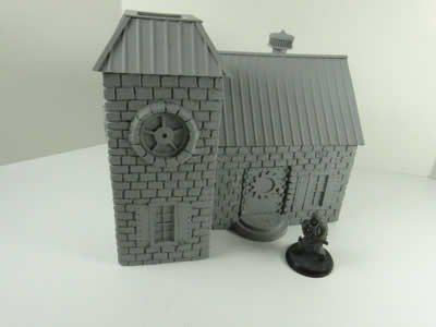 NDS1018 Steampunk Victorian House 28mm Scale Miniature Terrain Novas Design Studio 3