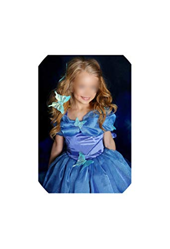 (Girl Costume Princess Cinderella Fancy Clothes for Christmas Party Snow Queen Cosplay,As Picture16,4T)