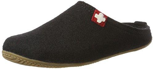Pantofole Pant Uri Kitzbühel amp; 900 adulto Fußbett Nero Living Unisex schwarz Kreuz Schweizer 0HAw5q