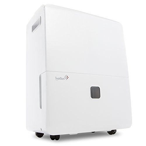 Ivation 95 Pint Energy Star Dehumidifier with Pump - Large-Capacity Compressor for Spaces Up to 6,000 Sq Ft - Includes Programmable Humidistat, Hose Connector, Auto Shutoff/Restart, Washable Filter