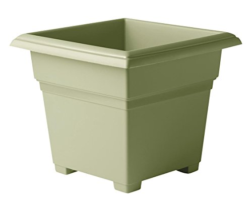 Novelty Countryside Square Tub Planter, Sage, 14-Inch