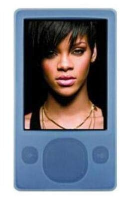 FastSun Microsoft Zune MP3 Player Case Skin, Soft Silicone Rubber Skin Cover Case for Microsoft Zune 80GB 120GB MP3 Player (Light Blue)