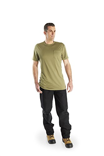 Arctic Cool Men's Pocket Workwear Instant Cooling Shirt with UPF 50+ Sun Protection, Olive, XXL by Arctic Cool (Image #2)
