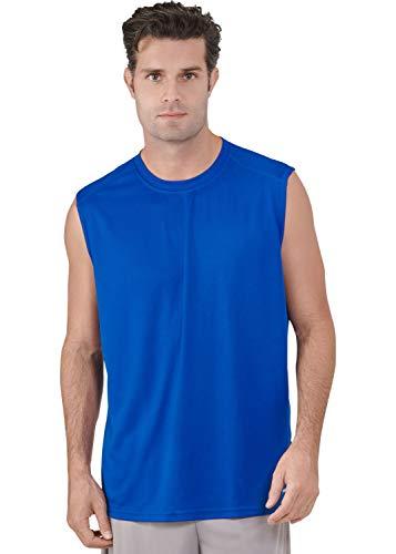 (Russell Athletic Men's Dri-Power Performance Mesh Sleeveless Muscle, Royal, XXL)