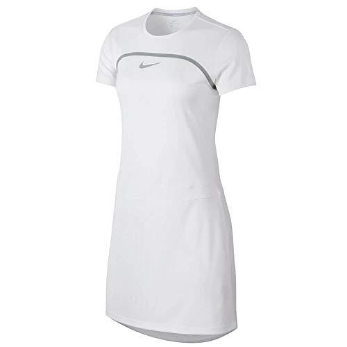 Nike Dri Fit Shortsleeves Golf Dress 2018 Women White/Wolf Gray/Flat Silver Medium