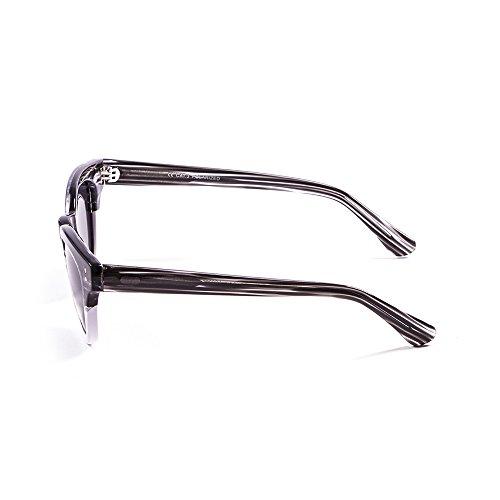 Ocean Sunglasses Santa Cruz Lunettes de Soleil Mixte Adulte, Demy Black/White Down/Smoke Lens