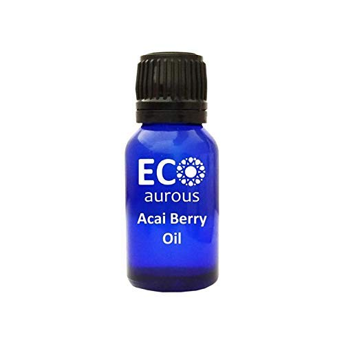 Acai Berry Oil (Euterpe Oleracea) 100% Natural, Organic, Vegan & Cruelty Free, Pure Essential Oil By Eco Aurous With Euro Dropper(15 ml(0.50 oz))