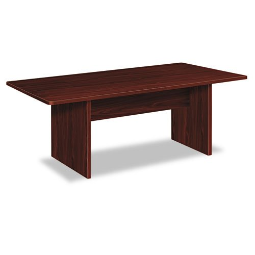 "HON BL Series Conference Table , Rectangle , Flat Edge Profile , Slab Base , 72""W x 36""D , Mahogany Finish"