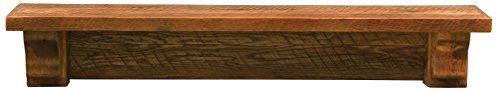 Lodge Shelf - Fireside Lodge Furniture Barnwood Wall Shelf, 48