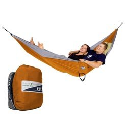 ENO DoubleNest Hammock with Insect Shield Treatment (Orange/Grey), Outdoor Stuffs