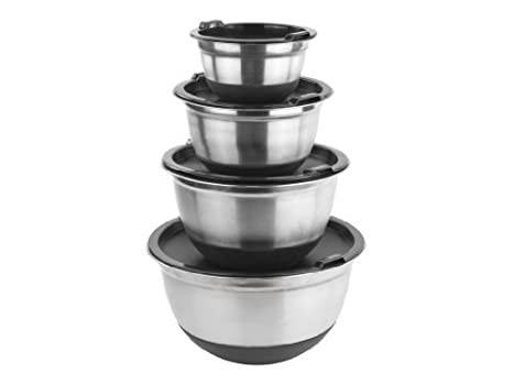 Amazon Com Stainless Steel German Mixing Bowls Food Storage