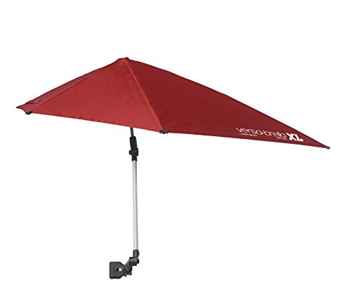 Sport-Brella Versa-Brella SPF 50+ Adjustable Umbrella with Universal Clamp, XL, FireBrick ()