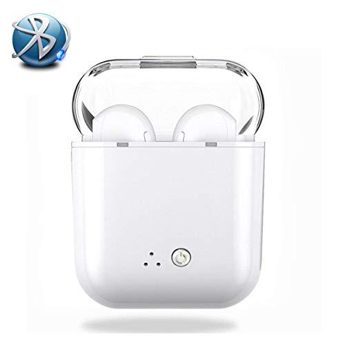 TFHEEY Auriculares Bluetooth, Stereo In-Ear Micrófono Manos Libres Incorporado con Cargador Portátil y Reducción de Ruido...