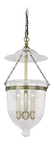 (630 Series 12-3/4In. Pendant Anitque Brass W/Clear)