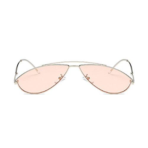Penetrador de época de Gafas pequeño sol de Plata sol de marco de Aiweijia vintage colorido de metal Gafas moda Bf0Pq6aw