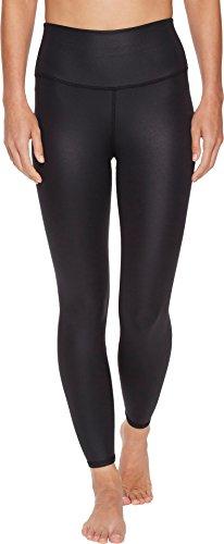 Alo Women's 7/8 High Waist Airbrush Leggings Black Glossy Small