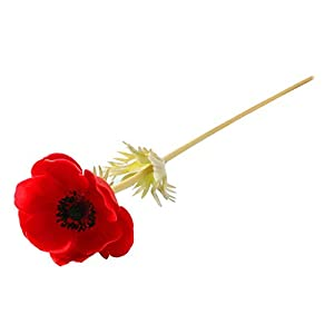 ZJJZH Artificial Decorative Flowers Feel Single Branch Anemone Grass Pattern Rose Artificial Flower Fake Flower vase Flower Arrangement Home Indoor Living Room Decoration Artificial Flowers. 98