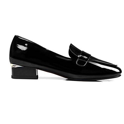 Zapatos Mujer Primavera/profunda/zapatos de tacón alto superficial circular/Versión coreana de zapatos minimalistas Joker B