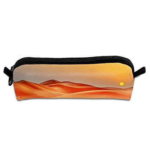 Kui Ju Pencil Bag Pen Case Desert Sunrise Cosmetic Pouch Students Stationery Bag Zipper Organizer