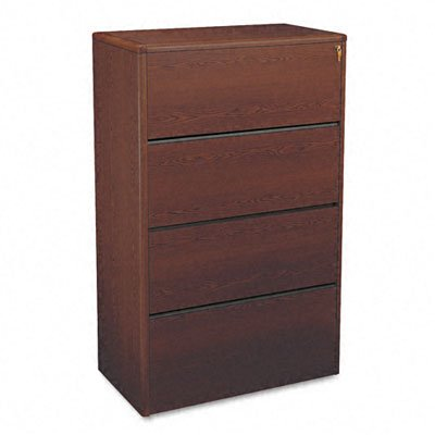 (HON 107699NN 10700 Series Four Drawer Lateral File, 36w x 20d x 59 1/8h, Mahogany)