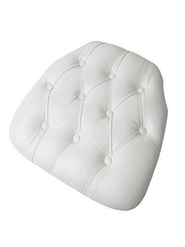 CSP Events Cup-V-Tufted-WH Chiavari Chair Wood Panel/Tufted Vinyl Cushion, 3