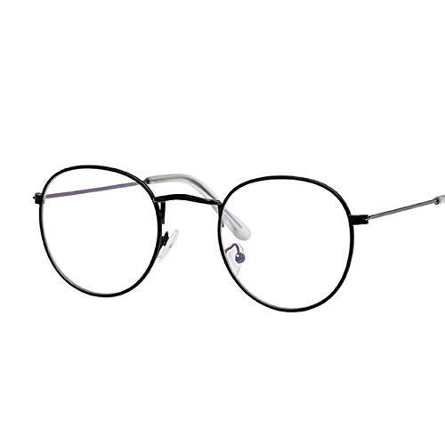 b3e47bb174 Kasuki Small Round Glasses Men Women s Sun Glasses Metal Frame Eyewear  Vintage Female Male Optics Eyeglasses Clear Lens Transparent Top - (Lenses  Color  ...