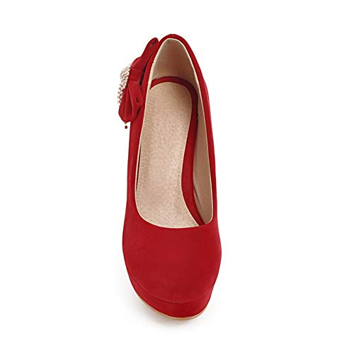 AN Compensées Sandales 36 Rouge 5 DGU00639 Femme Red UprxU6