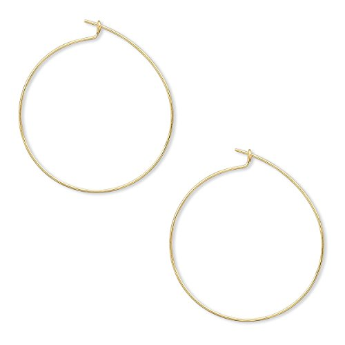 24 Plain 1 inch Round Ring Hoop Wire Findings for Earrings & Wine Glass Charms (Gold) (Round Mm Hoop 25)