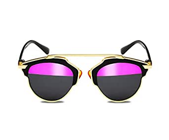 Unique design sunglasses Half pink half black lens All Match Stylish Eyeglasses Accessory