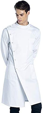 Dr. James Unisex Lab Coat, Classic Fit, Howie Style, White, 43 Inch Length
