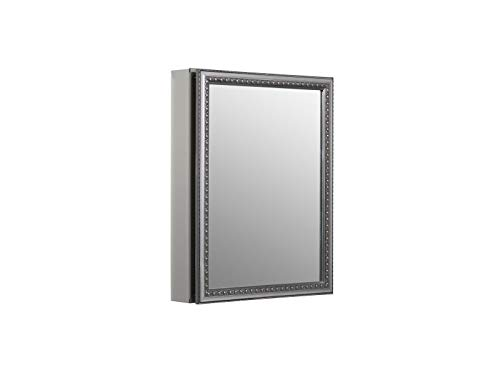 KOHLER K-CB-CLW2026SS 20 inch x 26 inch Aluminum Bathroom Medicine Cabinet with - Aluminum Mirrors Framed Bathroom