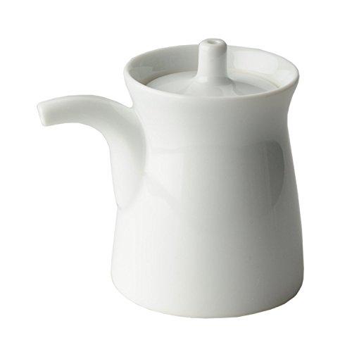 Pottery Sauce (Hakusan pottery G type Soy sauce bottle Size L White)