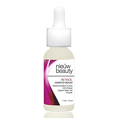 RETINOL COMPLEX SERUM 2.5% by nieuw beauty. Professional Strength Anti-Aging Formula Reduces Wrinkles, Fine Lines and Prevents Sun Damage & Age Spots. For Women & Men. For All Skin Types.