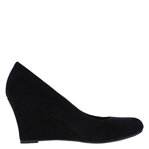 Image of dexflex Comfort Women's Black Suede Women's Karlie Wedge 7 Regular