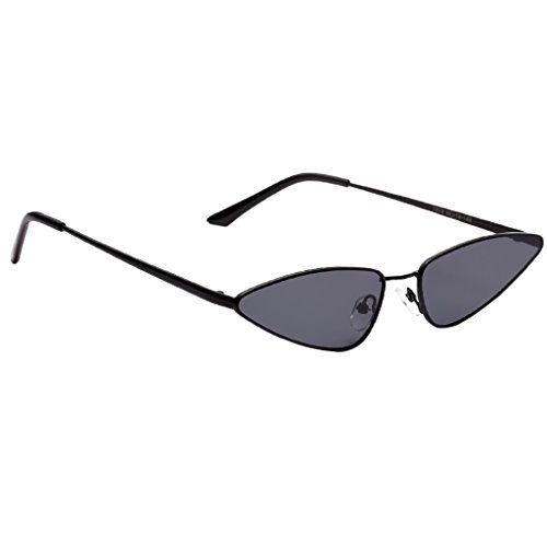 gris Lente Mujer marco UV400 Regalo de gris Ojos de con marco Gato Gafa Homyl Protección Conducción Sol con negro Unisex para Pesca Lente de Vintaje Hombre negro wCWUB7