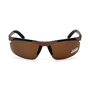 Garrelett Outdoor Sports Driving Sunglasses Polarized Sun Eyeglasses Reflective Sun Eyewear Brown Lens Brown Frame for Men and Women