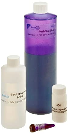 Edvotek 604 Electrophoresis Reagent Package with FlashBlue Stain