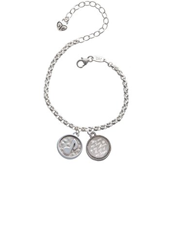 Music Note - Round Seal You are my Sun, My Moon, and All of My Stars Engraved Bracelet (Star Seal Note)