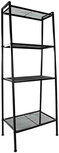 Editors' Choice: WUIIEN 4 Tier Heavy Duty Metal Leaning Ladder Shelf Bookcase Bookshelf Storage Shelves