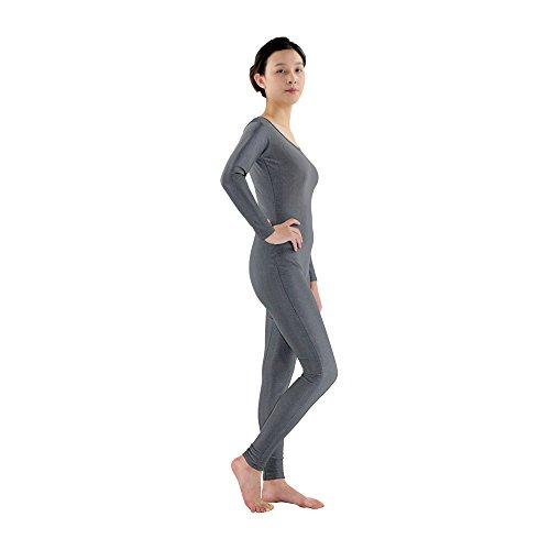 【ノーブランド品】 コスチューム ユニタード 衣装 ボディスーツ ライクラ スパンデックス コスプレ ダンス グレー 全6サイズ - グレー  XL