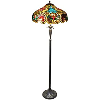 Amazon tiffany style calla lilly floor lamp office products chloe lighting ch1a674vb18 fl2 leslie tiffany style victorian 2 light floor lamp 18 aloadofball Choice Image