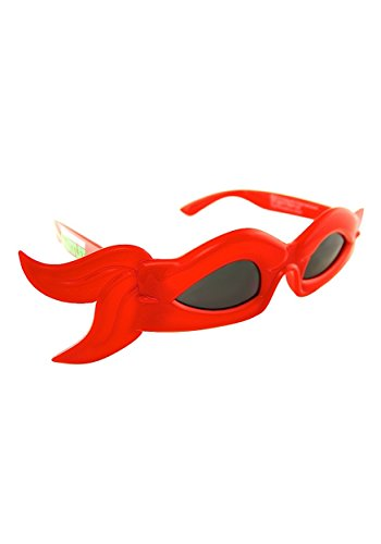 Sunstaches Officially Licensed TMNT bandana Glasses, Red (Teenage Mutant Ninja Turtle Raphael Adult Mask)