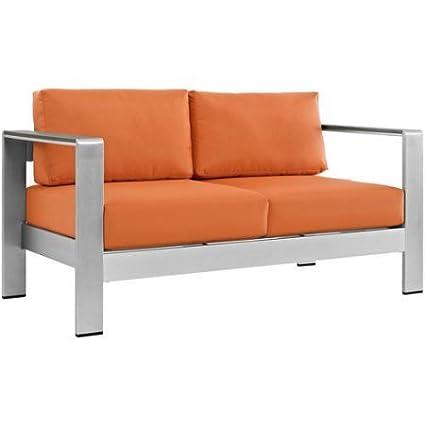 Outdoor Patio Loveseat, Couch, All Weather Fabric, Foam Padding, Sofa,  Aluminum - Amazon.com: Outdoor Patio Loveseat, Couch, All Weather Fabric, Foam