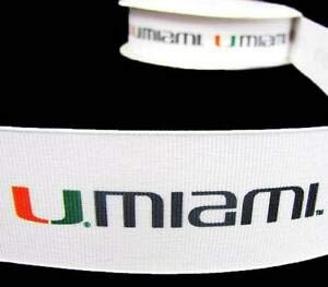 5Yd University of Miami Florida Hurricanes Sports Team Football Grosgrain Ribbon Florist, Flowers, Arts & Crafts Gift Wrapping